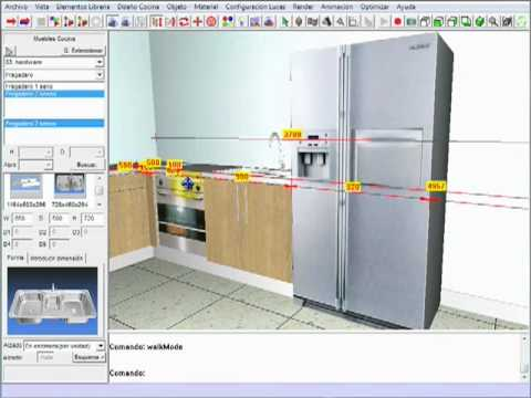 M dulo de cocinas en intericad t3 youtube for Simulador de cocinas 3d