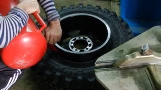 Fail pumping tires. Explosion tire. Неудачная накачка шин