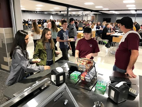 The State College Area High School food court opens!