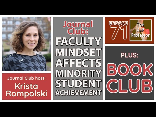 Faculty Mindsets & Minority Student Achievement Gaps | Journal Club with Krista Rompolski | TAPP 71