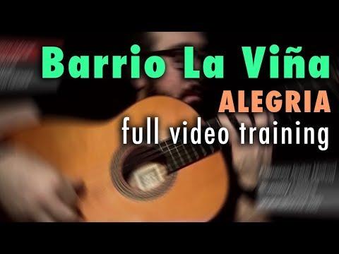 Barrio La Viña (Alegria) by Paco de Lucia - Full Training - See Description