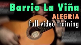 Barrio La Viña (Alegria) by Paco de Lucia - Full Video Training - Annotations