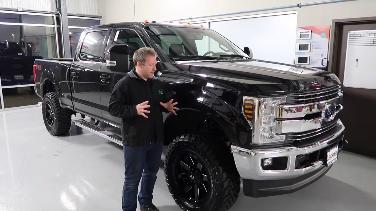 """How to install a 2"""" Leveling Kit on a 2018 F250 Super Duty - YouTube"""