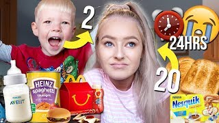 I ONLY ate my 2 YEAR OLD brothers DIET for 24 HOURS!😱
