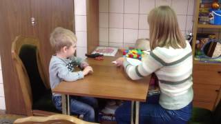 Работа студентки с ребёнком 4 года ОНР 2-3 ур.