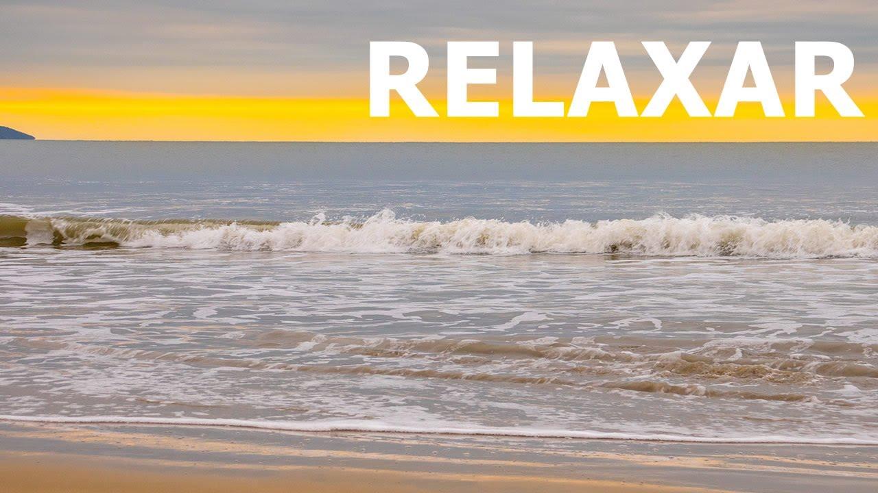 Som do Mar Com Música Relaxante de Fundo Para DORMIR BEM e Acalmar a Ansiedade