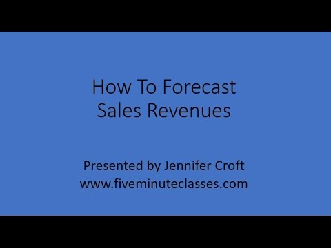 How To Forecast Sales Revenues