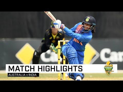 India Leave Australia Stunned With Run-chase Perfection | CommBank T20 INTL Tri-Series