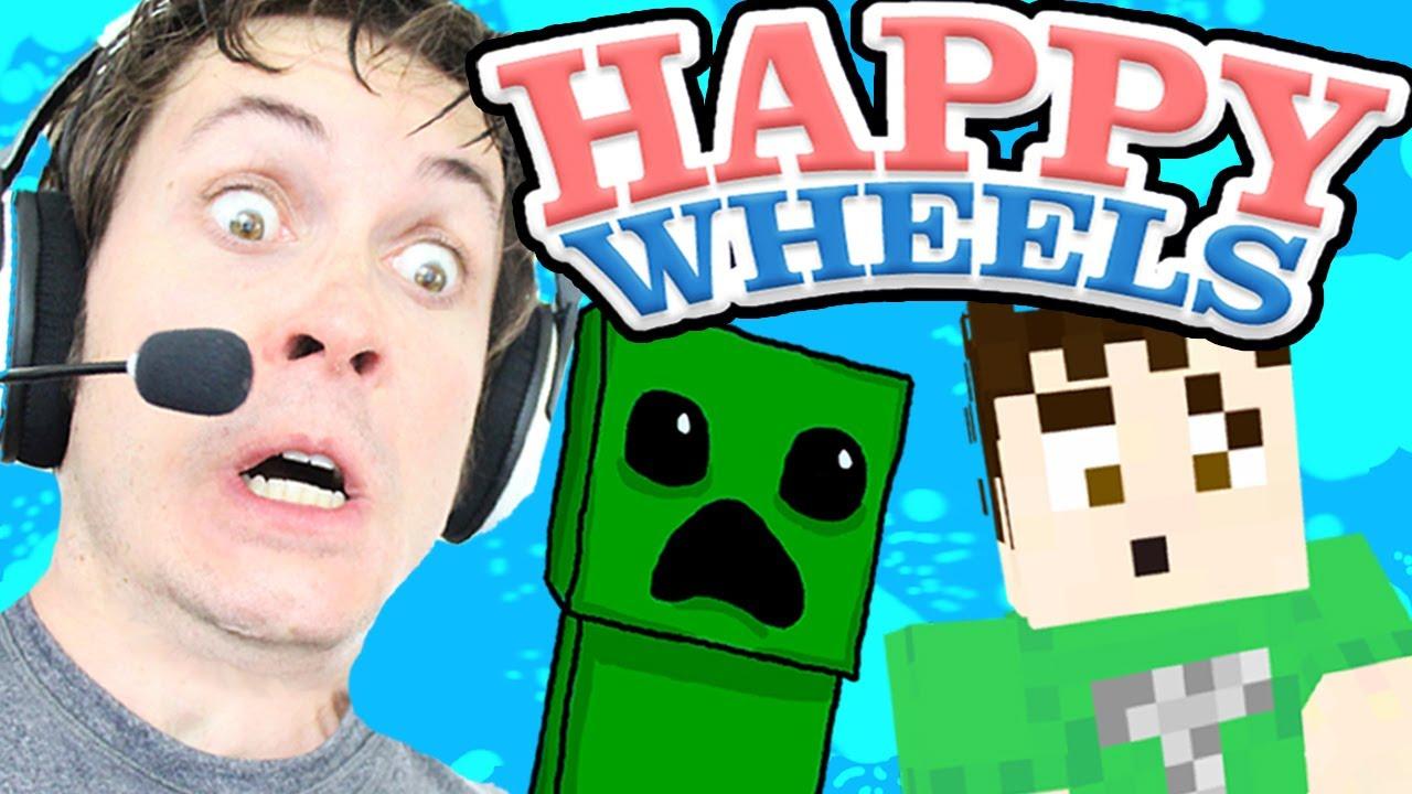 Happy Wheels Minecraft Creeper Youtube