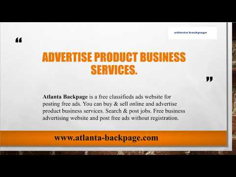 Atlanta backpage online classifieds search