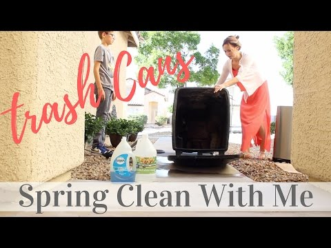Spring Clean With Me | Trash Cans