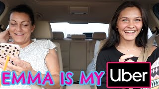 LETTING EMMA BE MY UBER! DRIVE WITH ME LIKE I HAVE MY LICENSE! EMMA AND ELLIE