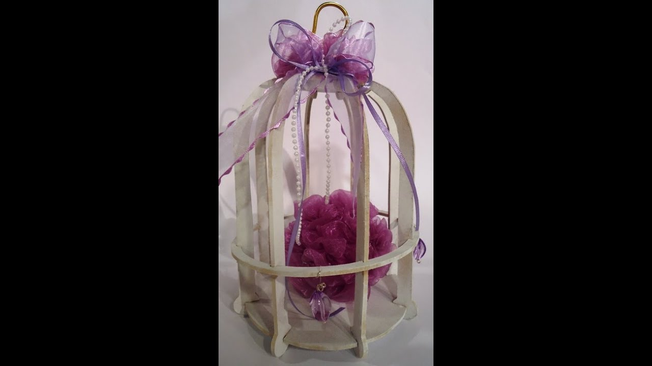 Como hacer rosas en gasa esferas de telgopor para for Como hacer una mesa de centro