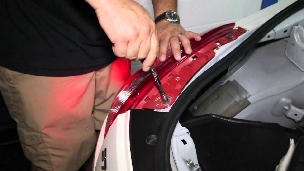 small resolution of 370z tail light removal and led cree installation