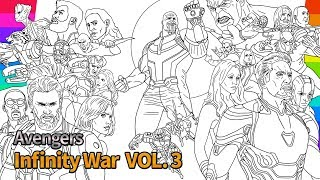 Marvel Avengers Infinity War  How To Draw  Super Hero  drawing and coloring pages