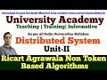 L6: Distributed Mutual Exclusion | Non token based algorithms|Ricart–Agrawala algorithm