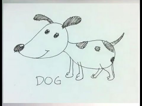 Easy cartoon drawing how to draw a cartoon dog