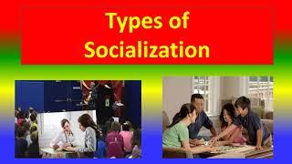 Types of socialization