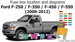 [SCHEMATICS_44OR]  Fuse box location and diagrams: Ford F-Series Super Duty (2008-2012) -  YouTube | 2008 Ford F350 6 4 Diesel Fuse Box Diagram |  | YouTube