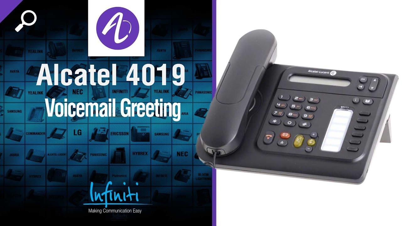Alcatel 4019 Phone Handset Voicemail Greeting Infiniti
