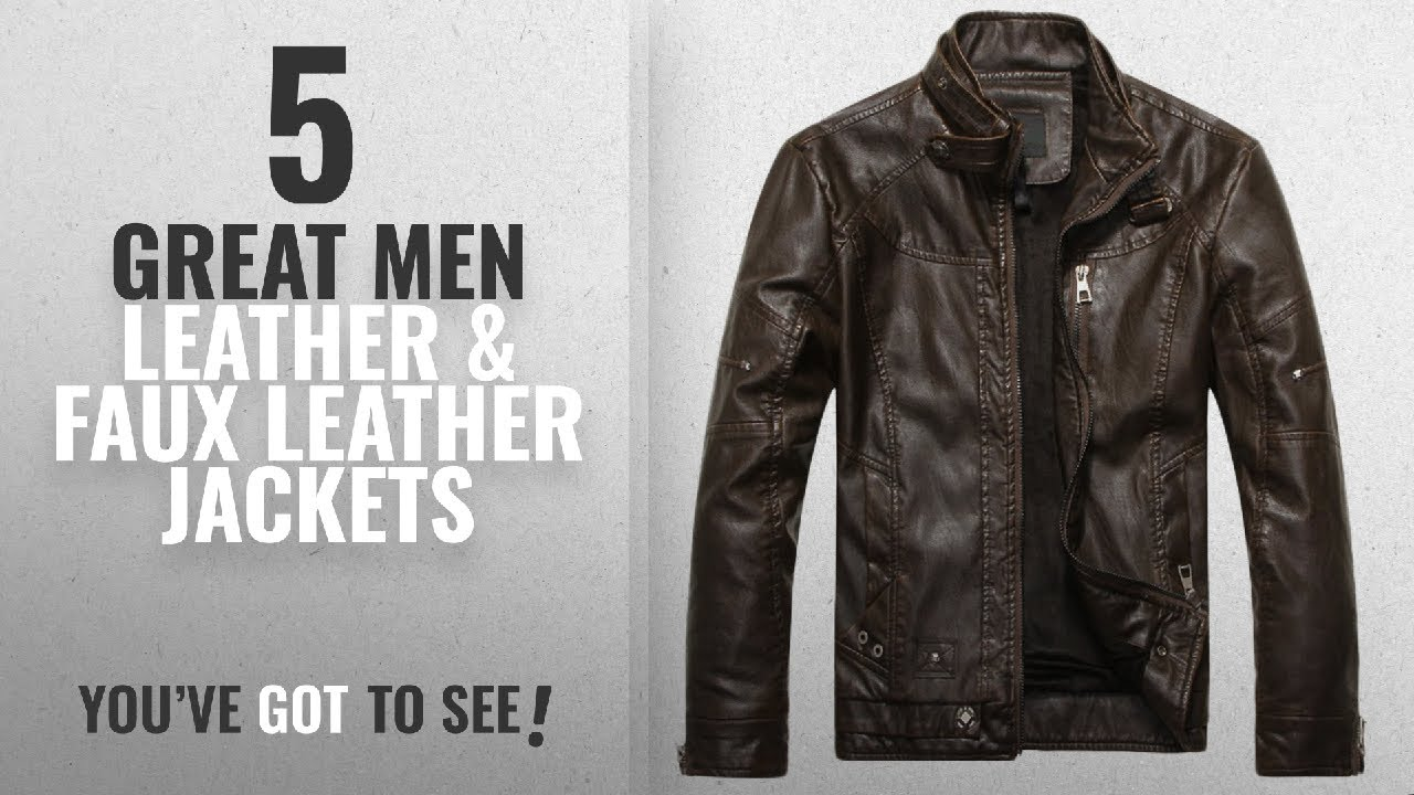 Top 10 Mens Leather   Faux Leather Jackets   Winter 2018 ... a58bb52ec