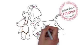 Мультфильм 101 далматинец смотреть онлайн  Как нарисовать далматинца поэтапно карандашом за 45 секун
