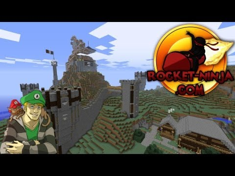 Minecraft MMORPG - Rocket Ninja Server - Metalworks and Throne Room