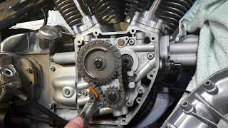 How to check camchain tensioners on a Harley 88 Twincam