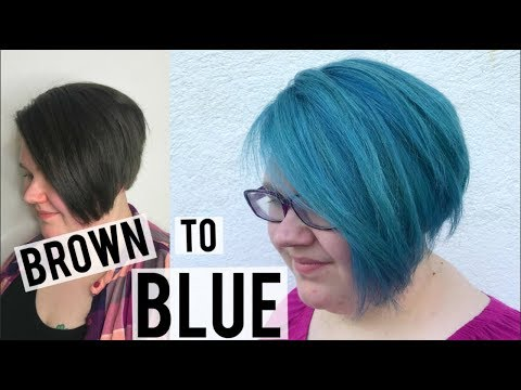 HOW TO: BROWN TO BLUE HAIR