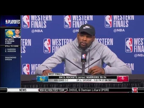 Kevin Durant | Game 5 Western Conference Finals Press Conference