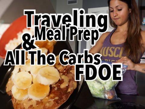 FDOE: All The Carbs! | Travel Meal Prep | IFBB Bikini Pro Debut Ep #46