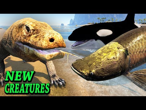 ARK ORCA, VARANIDAE, ARAPAIMA & DRAKE!! Ark Survival Evolved Additional Creatures Mod Update