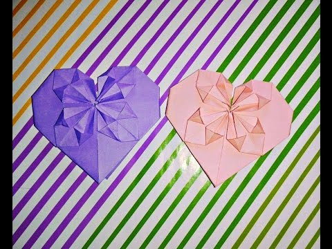 Handmade Paper Heart Making Without Glue Or Scissors Easy Simple