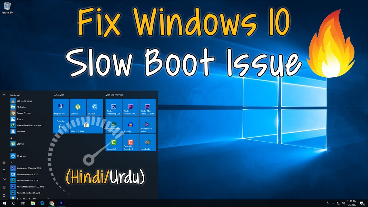 How To Fix The Windows 10 Slow Boot Issue 2019 (Hind/Urdu) By Sahil Se Sikho