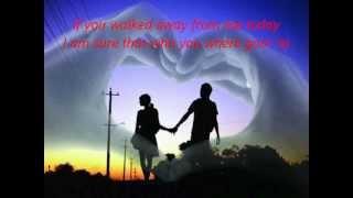 If You Walked Away -David Pomeranz- with LYRICS