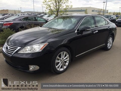 Lexus Certified Pre Owned Black On Black 2010 Lexus ES 350   Fort McMurray,  Alberta