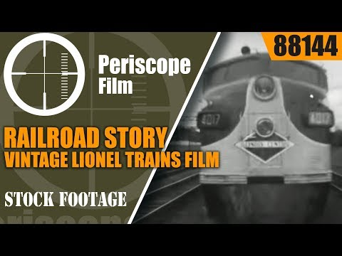 RAILROAD STORY VINTAGE LIONEL TRAINS FILM PENNSYLVANIA RAILROAD 88144