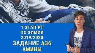 А36 РТ 19-20 этап 1. Амины. Тесты по химии