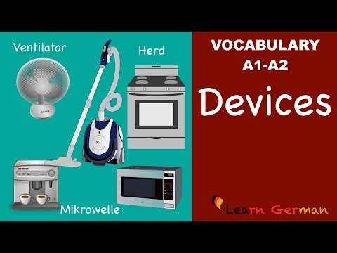 Learn German | German Vocabulary | Haushaltsgeräte | Household appliances | Geräte | A1