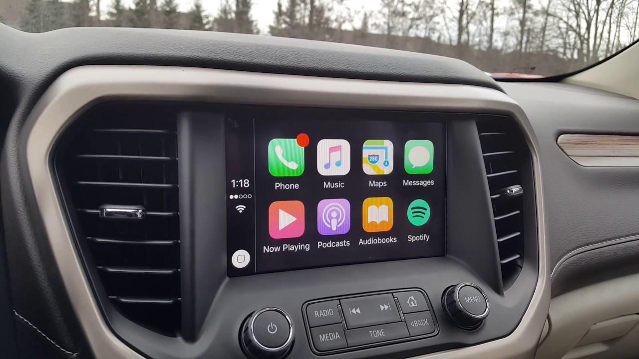 Apple Car Play in the New 2017 GMC Acadia Denali