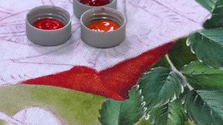 Pintura Tecido Rosa Vermelha por Fatima Hespanholeto – Parte 2