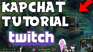 How To Add Twitch Chat To The Stream With OBS And Kapchat! Tutorial For Kapchat 2017!