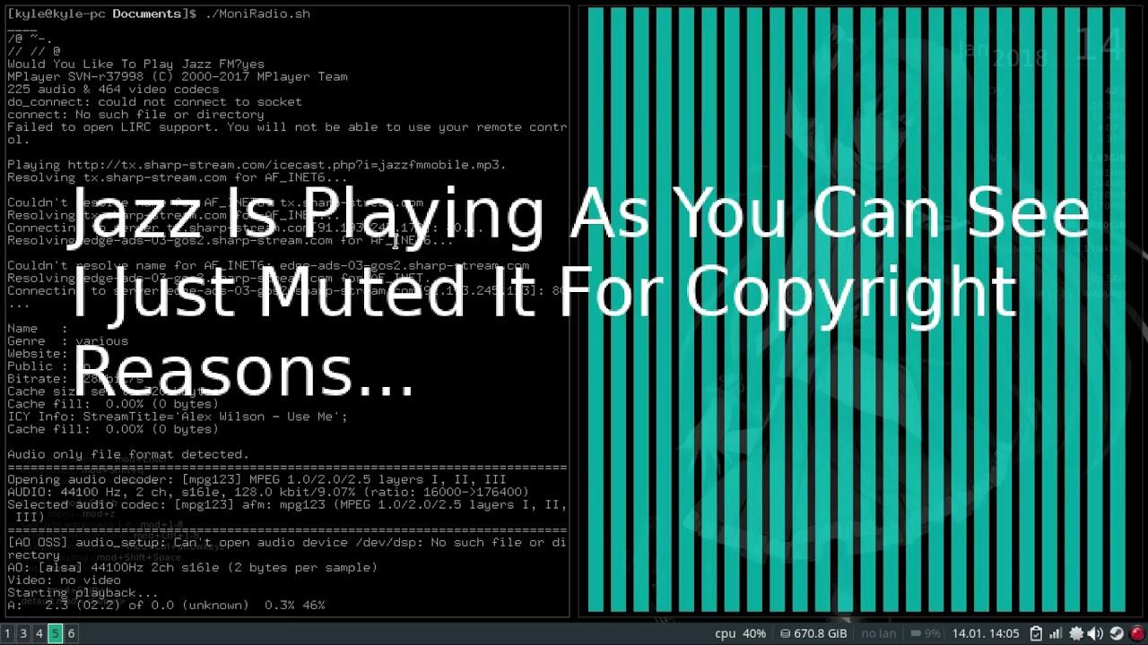 Jazz FM Command Line Player! (Linux, Download In The Description)