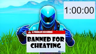 I spent a HOUR trying to get BANNED on FORTNITE
