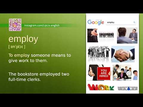 Employ : B1 level english vocabulary lesson, www.LipLix.com