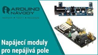 Arduino návody | Napájecí modul pro nepájivá pole