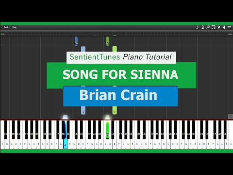 "Brian Crain - ""Piano Lessons"" SONG FOR SIENNA - Piano Tutorial HD"