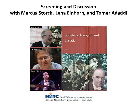 """Post-Screening Discussion About """"Stateless, Arrogant And Lunatic,"""" A Film About Gilel Storch."""