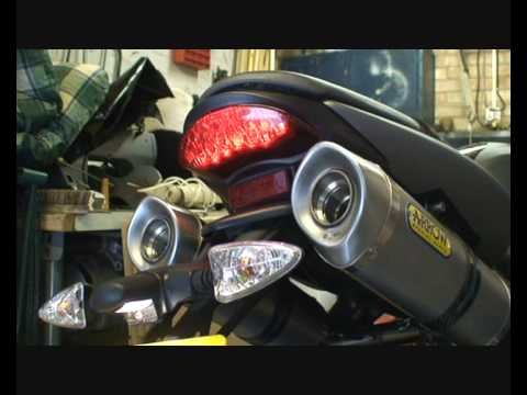 Triumph Street Triple R Arrow Exhaust Comparison Youtube