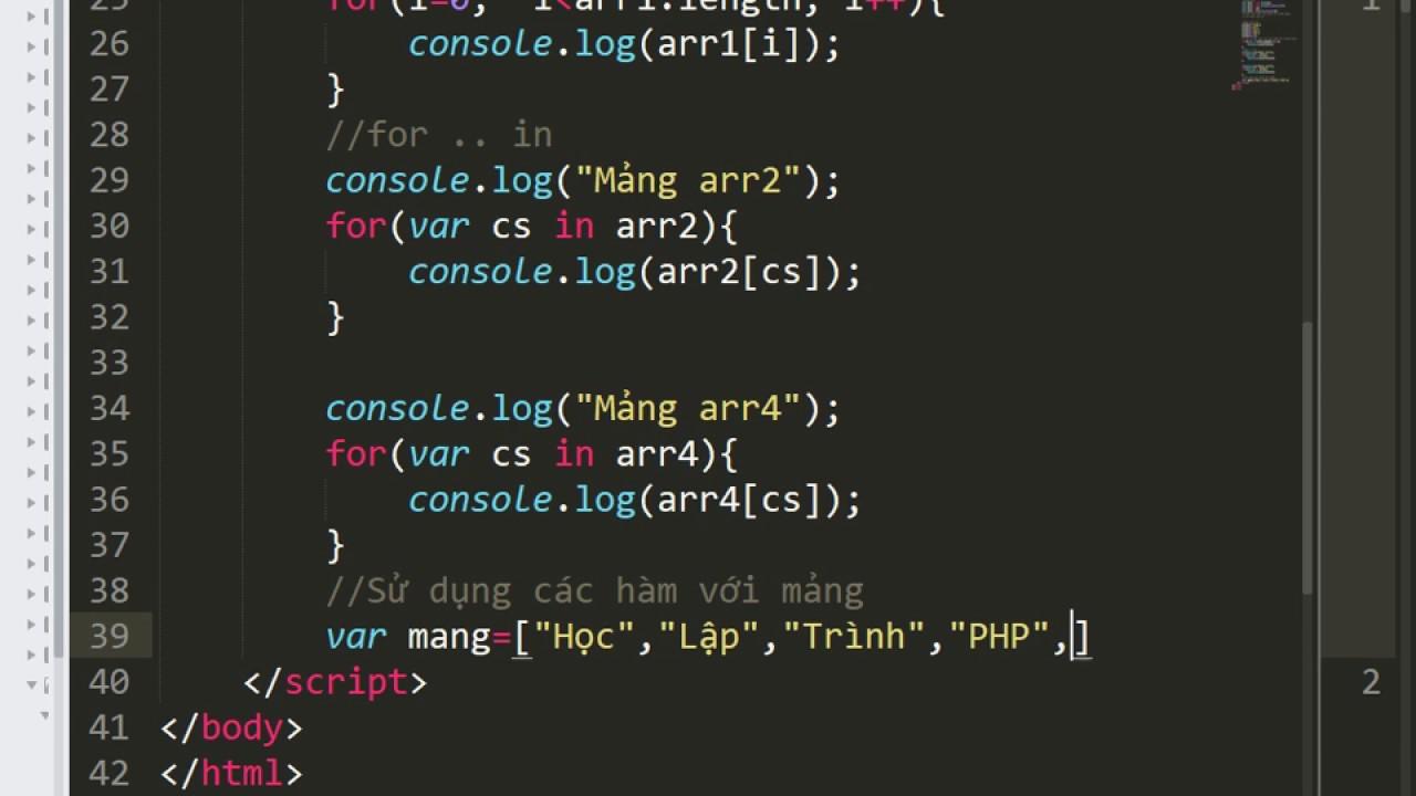 [Javascript]-DEV1809LM-PHP - Ngôn ngữ lập trình Javascript (tiếp theo)
